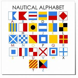 nautical alphabet mini flag good to know pinterest With nautical letter art