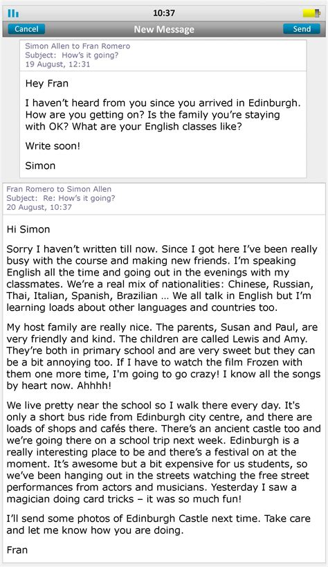 foreign exchange emails learnenglish teens british council