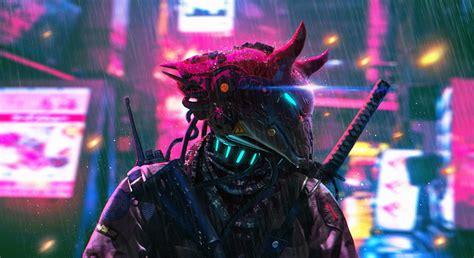 cyberpunk neon science fiction police hd artist