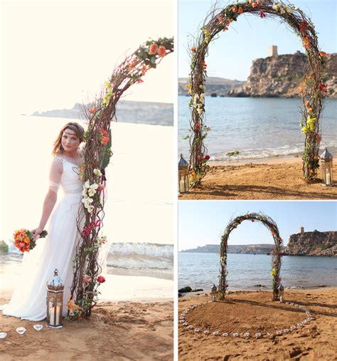 destination wedding malta golden bay lanterns orange