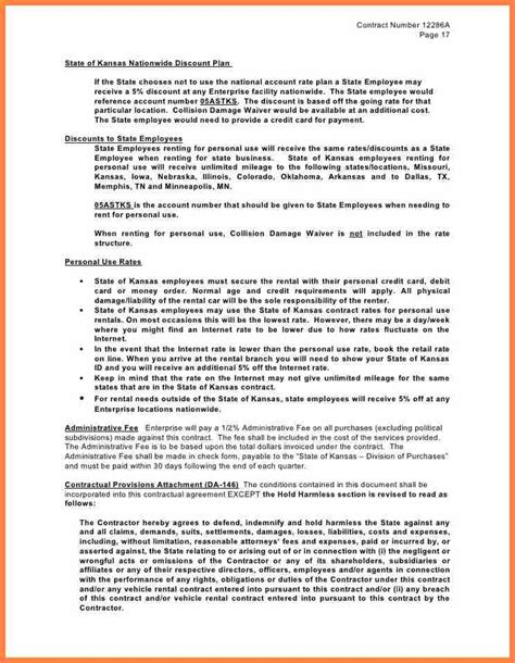 Employee Vehicle Use Agreement Template by 6 Employee Vehicle Use Agreement Template Purchase