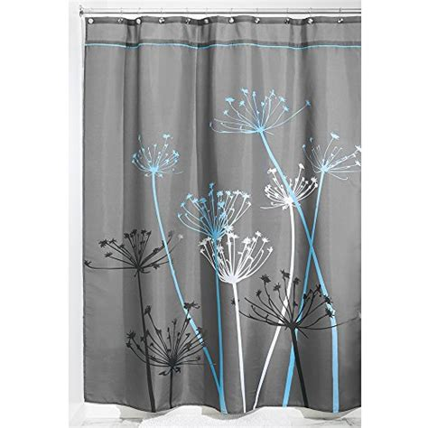 interdesign thistle fabric shower curtain 72 x 84