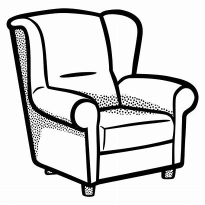 Chair Clipart Drawing Armchair Sofa Clip Couch