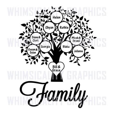 Clipart Pictures Templates Family Tree Template Png Family Tree Blank Template With Svg Dxf Png Commercial
