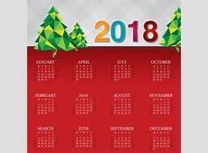 Christmas calendar 2018 template vector free download