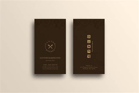Apply for business credit cards from creditland. Elegant Restaurant Business Card   Creative Business Card Templates ~ Creative Market