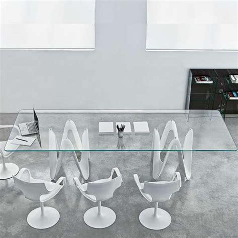 table de salle 224 manger design en verre 320 x 120 cm lambda sovet 174 4 pieds tables