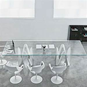 table de salle a manger design en verre 320 x 120 cm With table en verre design salle a manger