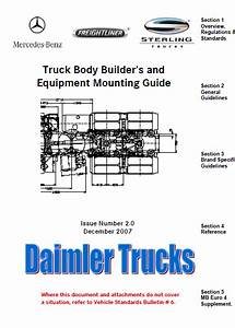 Truck Body Builders And Equipment Mounting Guide Mercedes