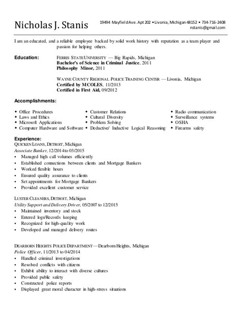 How To Type Out A Resume by Updated Resume Quicken Loans 2015