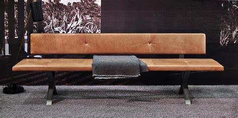 Mit Rückenlehne by Bank Lax Mit R 252 Ckenlehne 240 Cm Leder 2 Farbe 2600