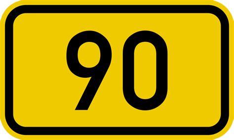 Bundesstraße 90 Number.svg