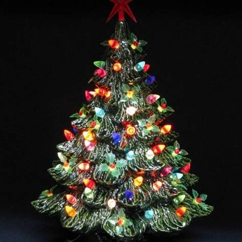 ceramic lighted christmas tree ceramic christmas tree with