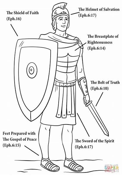 God Coloring Armour Printable Armor Worksheets Lesson