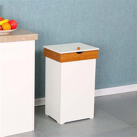 topcobe kitchen trash   lid home recycling bins
