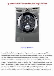 Lg Wm2655hva Service Manual Repair Guide By