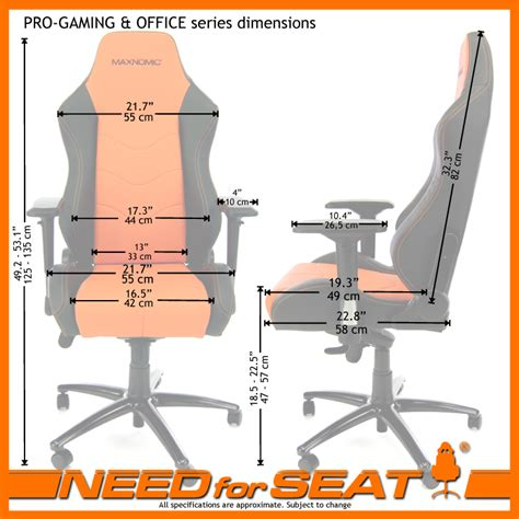 Desk Chair Size by Needforseat Usa Maxnomic 174 Computer Office Gaming Chair