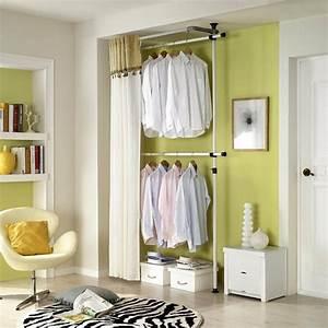 Idee Amenagement Dressing : dressing avec rideau 25 propositions pratiques et jolies ~ Melissatoandfro.com Idées de Décoration