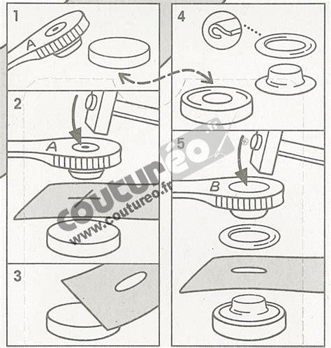 oeillets et rondelles de 8 mm argent coutureo
