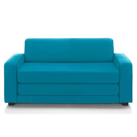 canapé poltron et sofa canapé convertible déplimousse 2 places bleu canard wizz