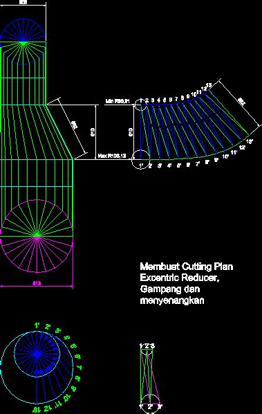 eccentric reducer cone dwg block  autocad designs cad