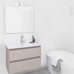 ensemble salle de bains meuble teide taupe plan vasque With ensemble sdb