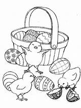 Easter Basket Coloring Pages Printable Colors sketch template