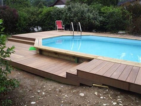 photos piscine amenagement terrasse bois