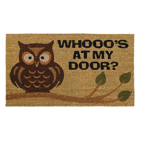 owl welcome mat home decor accents decorations accessories