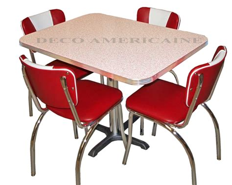 chaises deco retro diner set 4 retro riner chairs 1 table