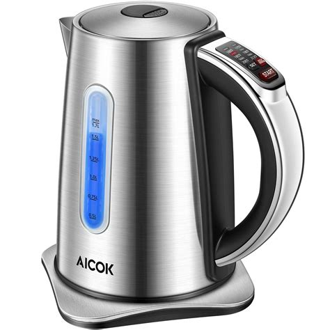 kettle water electric temperature control aicok precise stainless kitchen
