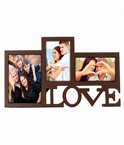 Deep Love Collage 3 in one photo frame Brown: Buy Deep