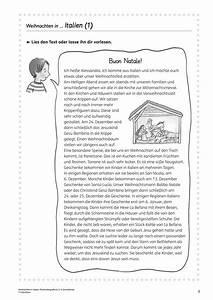 Weihnachten In Italien : arbeitsbl tter grundschule lehrerb ro ~ Udekor.club Haus und Dekorationen
