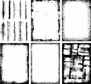 Grunge black frame vector material set 01 - Vector Frames ...