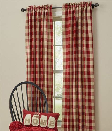 Plaid Drapery Panels by Buffalo Check Curtains 84 Quot X 72 Quot Country Plaid