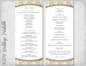 wedding programs diy templates rustic wedding program template burlap by