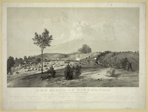 position siege the siege of vicksburg representing the position of maj