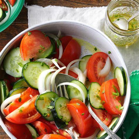 garden salad recipe garden tomato salad recipe taste of home