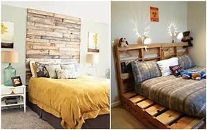Lit En Palette Avec Rangement : un meuble en palette de bois pour chaque pi ce de la maison ~ Melissatoandfro.com Idées de Décoration