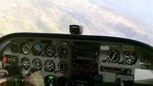 Cessna 172 Cockpit View   With Diesel Engine   Solo Over
