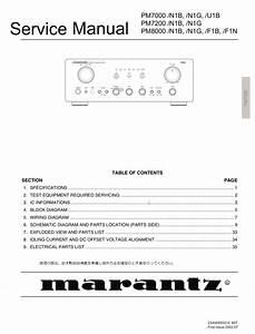 Marantz Pm7000 Pm7200 Pm8000 Service Manual Complete
