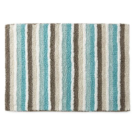 jcpenney bathroom rugs jcpenney home cotton reversible stripe bath rug