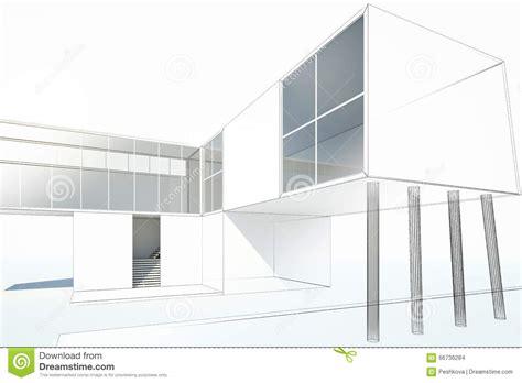 maison moderne de dessin illustration stock image 66736284