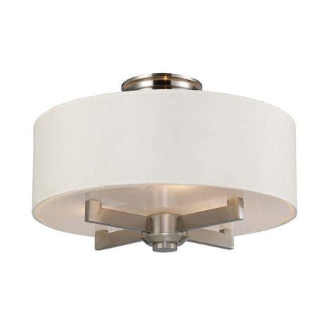 nickel semi flush ceiling lights titan lighting seven springs 3 light satin nickel ceiling