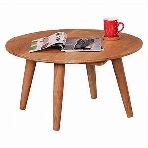 finebuy table basse en bois massif acacia table basse With table basse largeur 40 cm