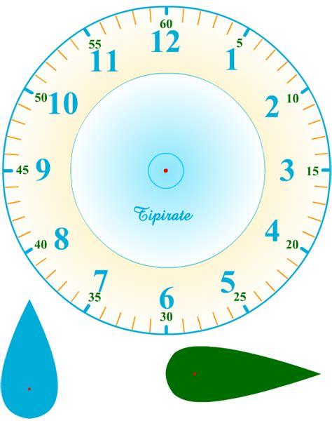 horloge  imprimer   decouper heure pinterest