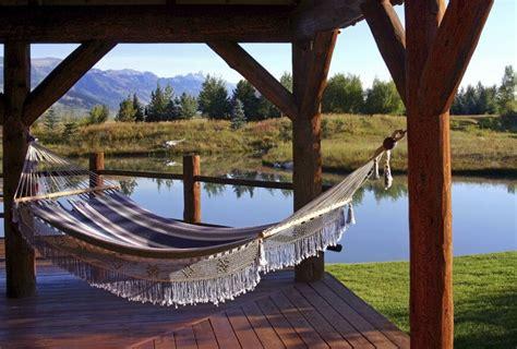 lazy day backyard hammock ideas