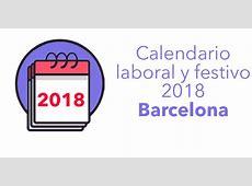Calendario laboral y de festivos en Barcelona para 2018