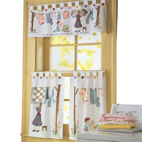 Collections Etc Nostalgic Laundry Room Cafe Curtain Set Ebay