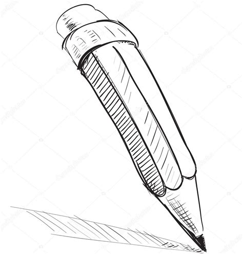 pencil sketch cartoon vector illustration stock vector